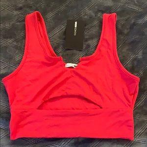 Red fashion nova crop top
